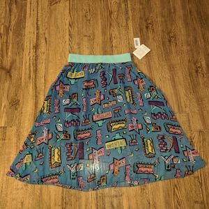 Lularoe Small Road Sign Lola Skirt